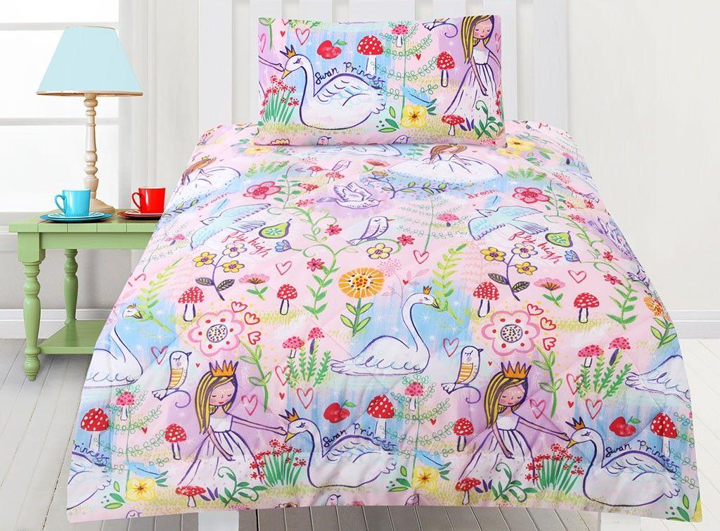 Swan Princess Comforter Set Comforter sets, Bed sizes