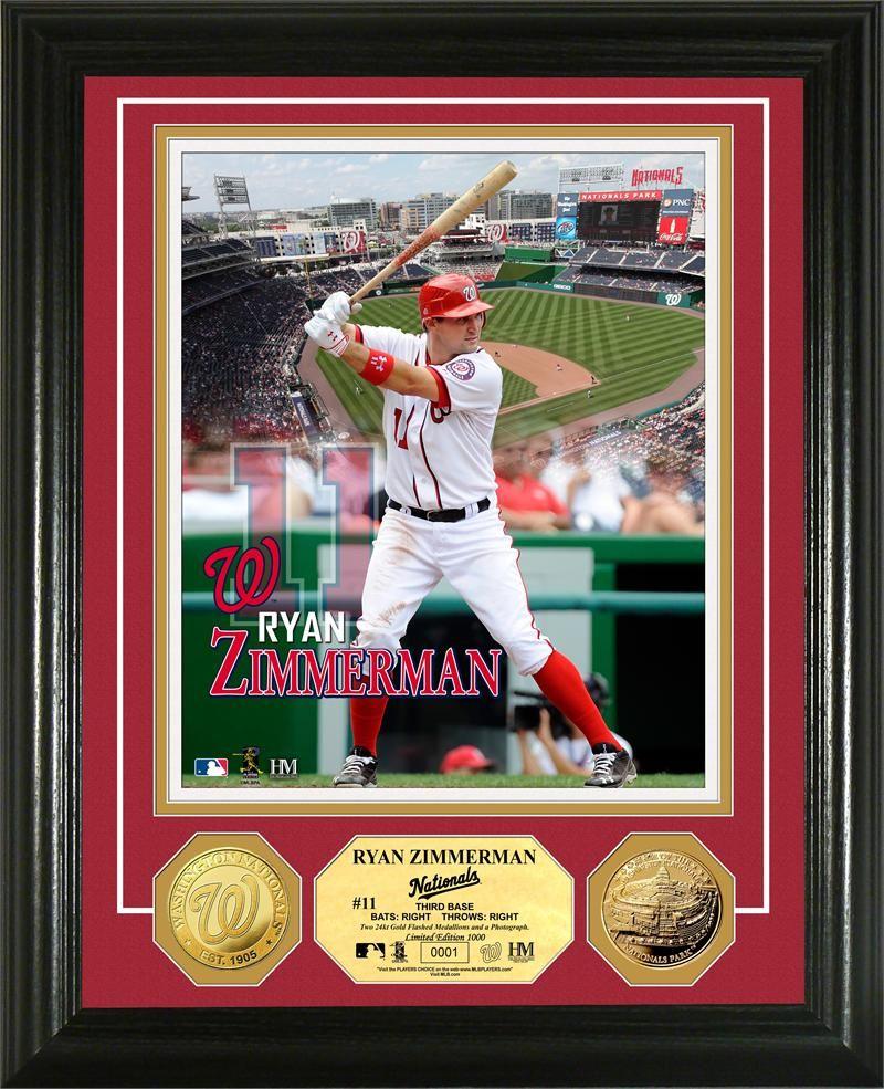 Ryan Zimmerman Gold Coin Photo Mint Washington Nationals Zimmerman Baseball Cards