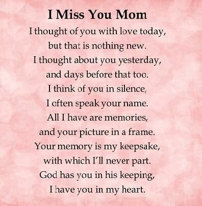 Signs & sayings Mom i miss you, Miss you mom, I miss my mom