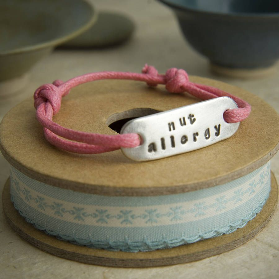 Nut Allergy Bracelet If Only I Could Get Aail To Wear This