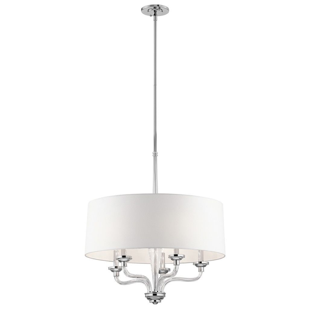 Kichler Lighting Loula Collection 5-light Chrome (Grey) Chandelier ...