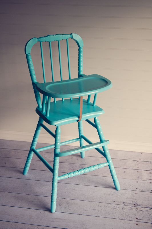 Wooden High Chairs For Babies Posture Perfect Evolution Chair Painted Now I Need To Find Another One In The Next Few Weeks