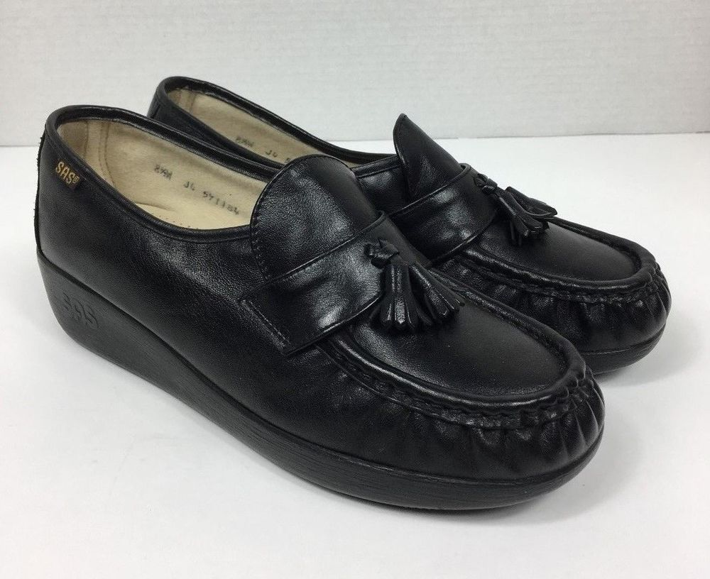 ... sas shoes magic comfort tel moc wedge loafers women s black ...