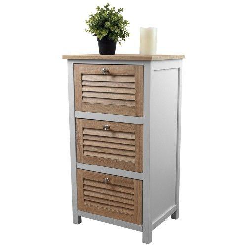 Schrank mit 3 Schubladen 45x35x82cm Holz/MDF Bild 1 (mit