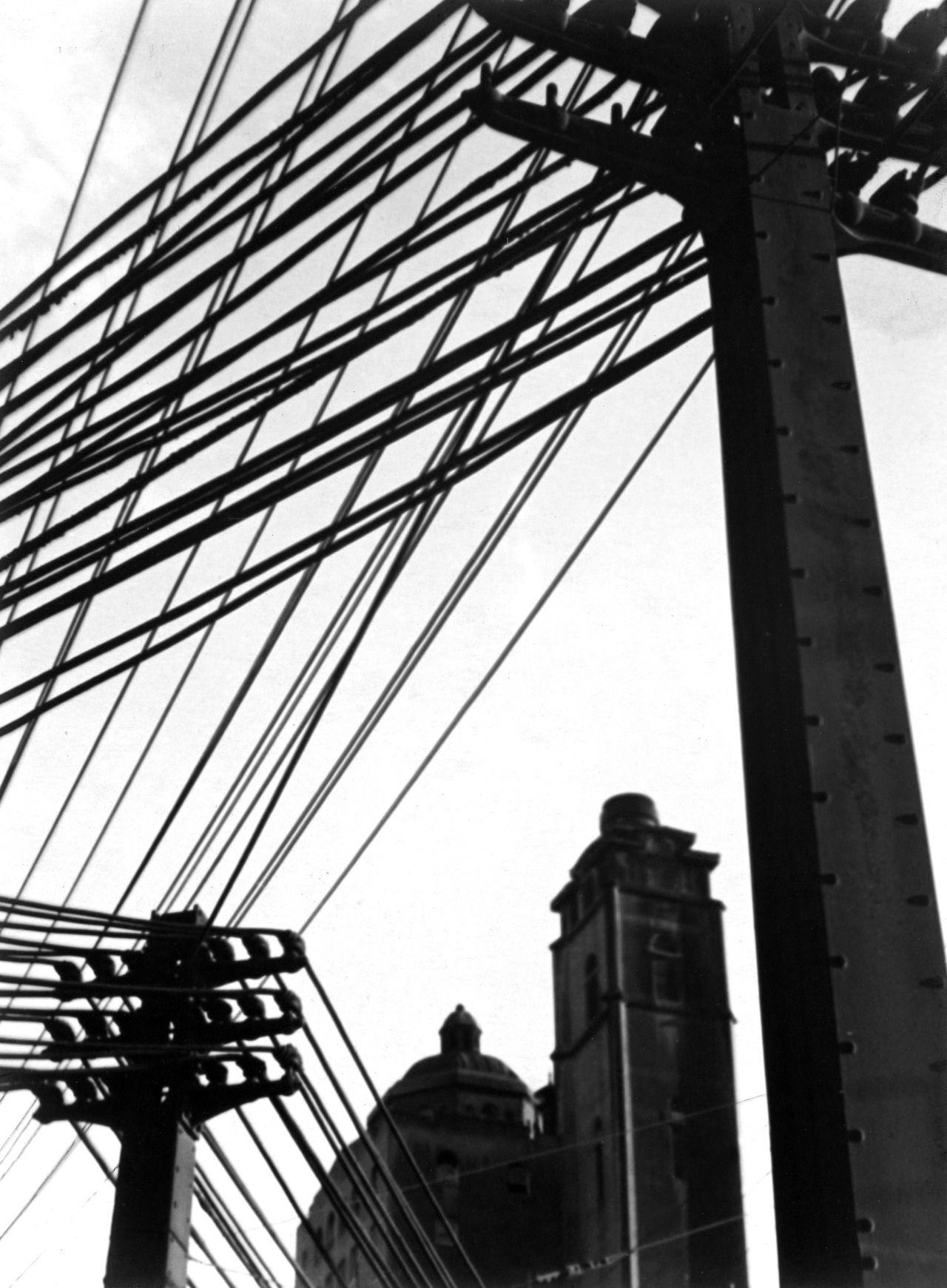 Johan Hagemeyer: Wires, 1928   all black & white   Pinterest