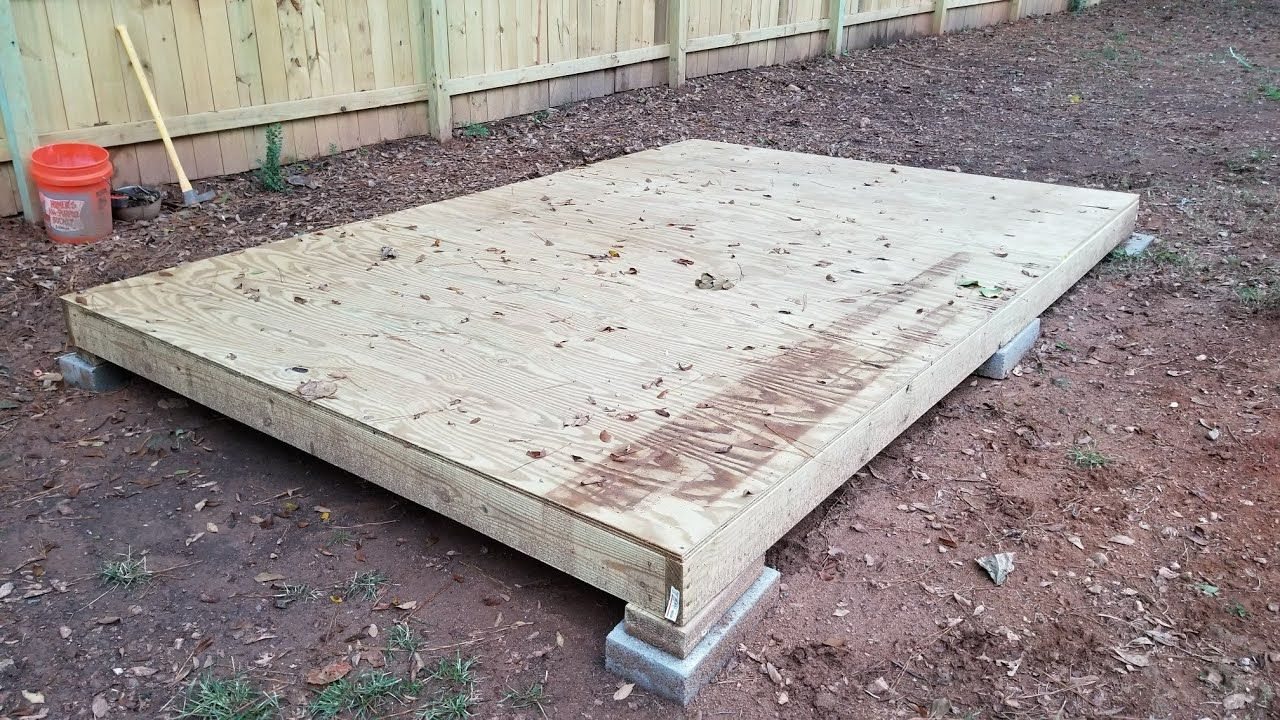 Building a shed on a budget part 2 building the floor