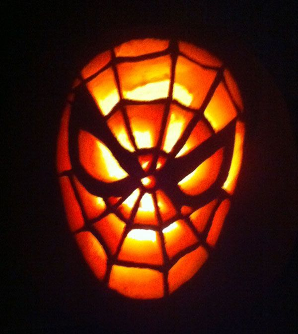 Spiderman pumpkin carving idea 30 best cool creative Awesome pumpkin designs