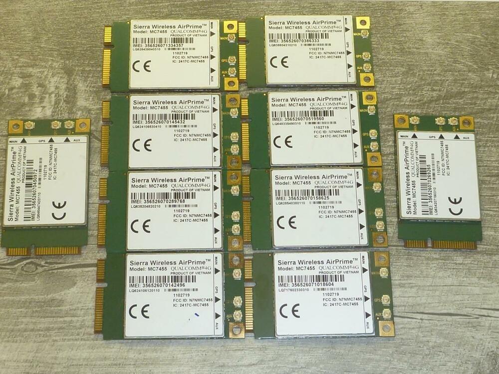eBay #Sponsored LOT OF 10 Sierra Wireless AirPrime MC7455