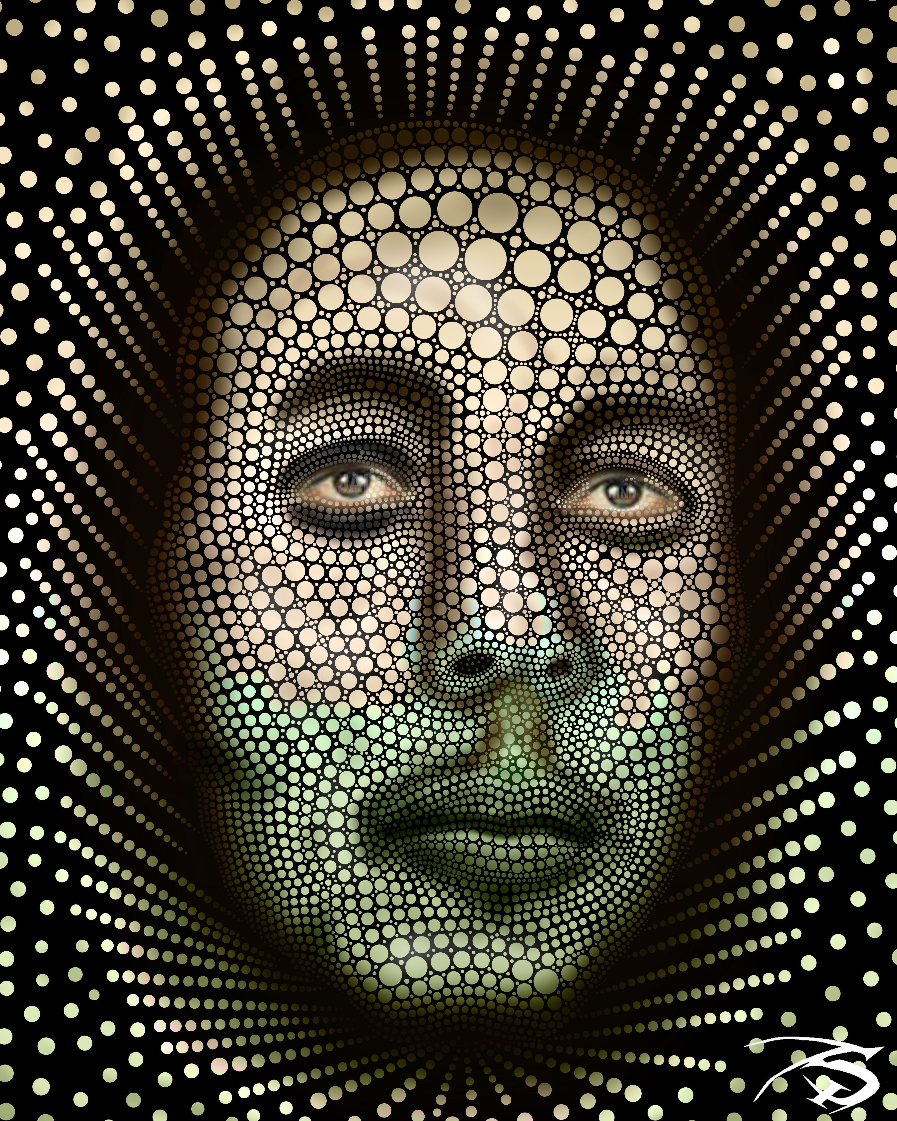 Face design with dots face design dots it works photoshop abstract