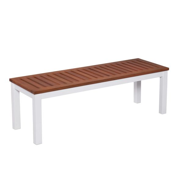 Upton Home Encore Outdoor Backless Bench - Soft White - Overstock ...