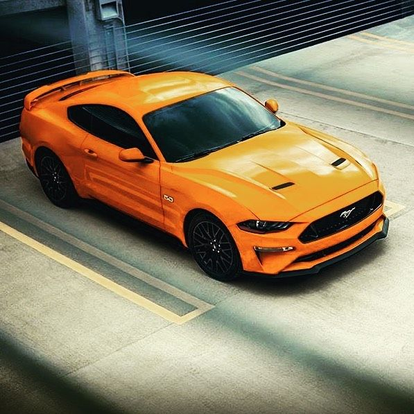 Ford Mustang Gt Srt Orange Followme Intacars Sport Car Street Car