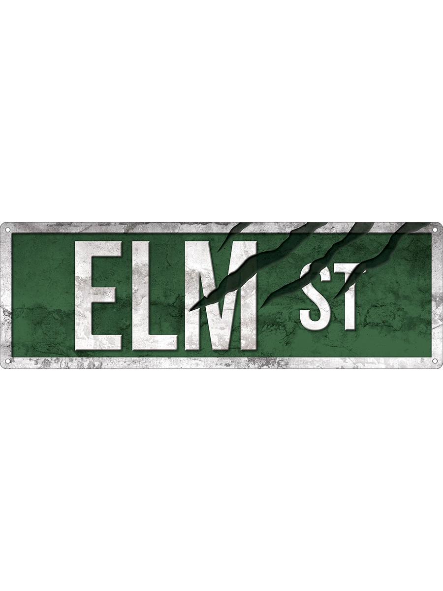 """6/""""x24/"""" ALUMINUM SIGN NIGHTMARE ON ELM STREET ELM STREET"""