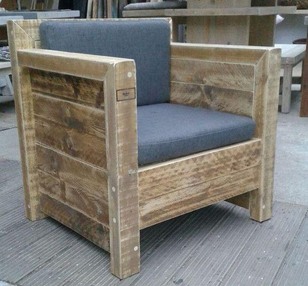 lounge sessel aus bauholz m bel von hand gefertigt pinterest ger stbohlen lounge sessel. Black Bedroom Furniture Sets. Home Design Ideas