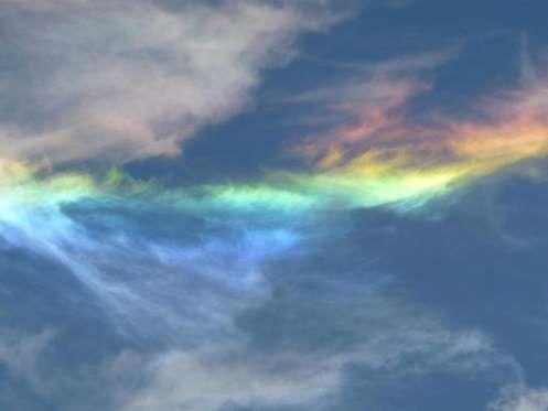 Fire rainbows - Brandon Rios/Rex Features