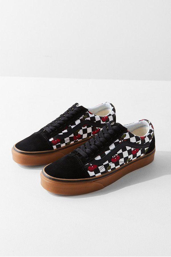 9693be52789f9d Vans Cherry Checkerboard Old Skool Sneaker