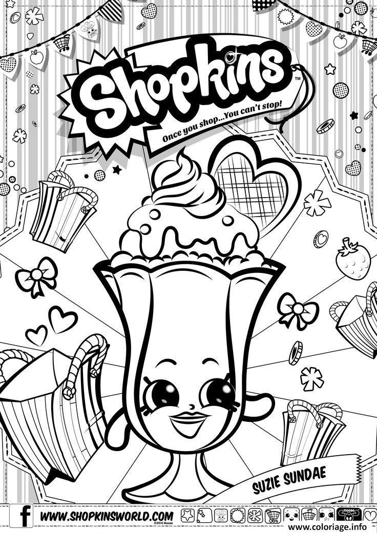 Coloriage Shopkins Suzie Sundae Dessin à Imprimer Disney