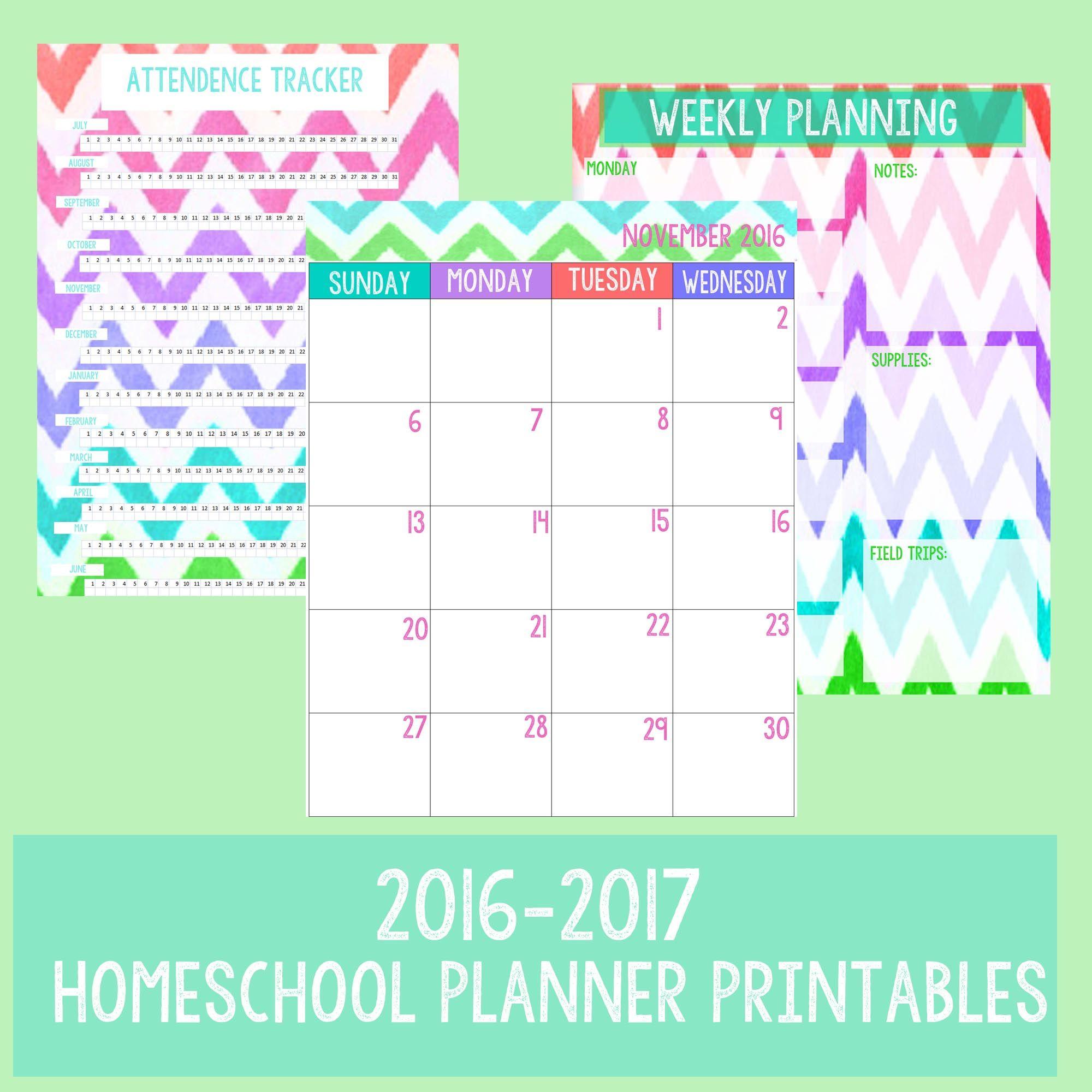 Homeschool Planner Printables For Binders With