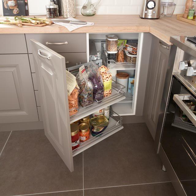 Rangement D Angle Coulissant Magic Corner Castorama Kitchen Kitchen Appliances Home
