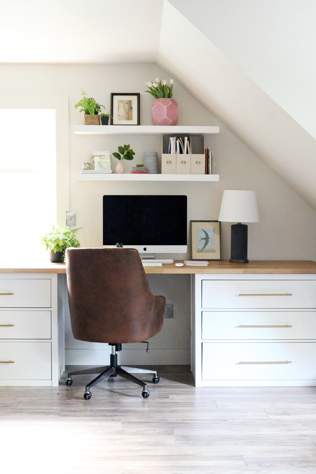 An Ikea Hack Worth Repeating The Studio Desks Jones Design Company Cheap Office Furniture Home Office Decor Guest Room Office