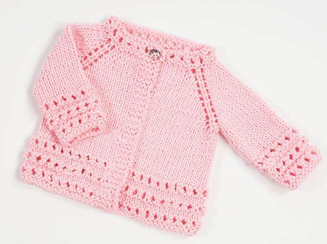 Top Down Free Baby Cardigan Knitting Pattern   Conjunto bebe, Bebe y ...