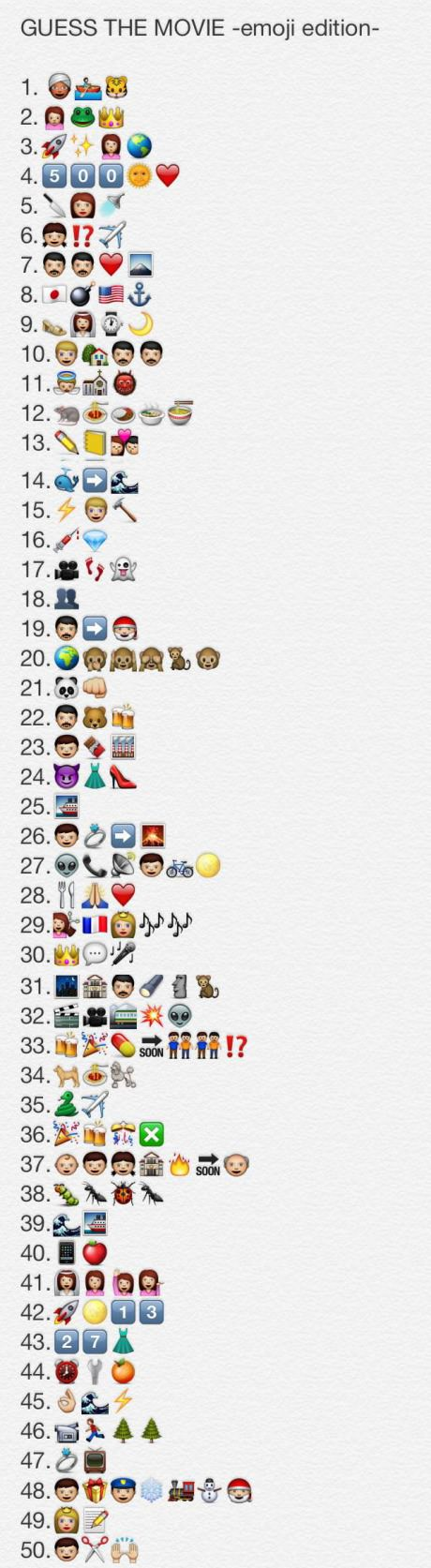 Can You Guess Them All Guess The Movie Guess The Emoji Emoji Quiz