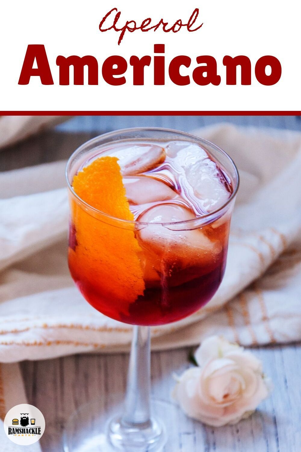 This Aperol Americano Cocktail Recipe Is A Great Afternoon Sipper I Nice Sweet Drink With A Hint Of Americano Cocktail Recipe Classic Cocktail Recipes Aperol
