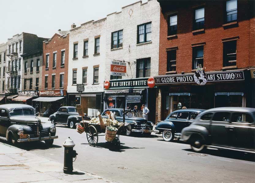1950--still had pushcart venders i brooklyn