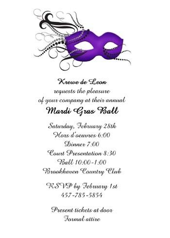 create your Mardi Gras invitation with mask that reflects what makes - invitation wording for mystery party