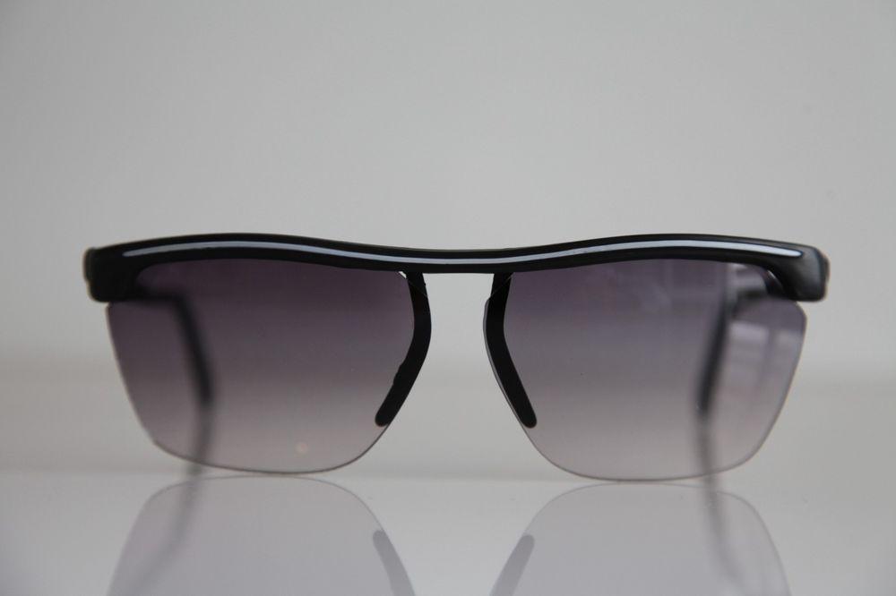 Black Rimless frame, White, Gradient Gray lenses #Sport