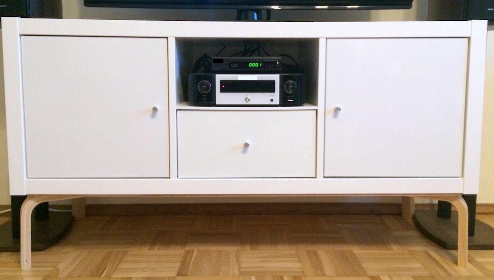 Modern TV Stand from KALLAX + FROSTA - IKEA Hackers IKEA Hacks - fyndig k che ikea