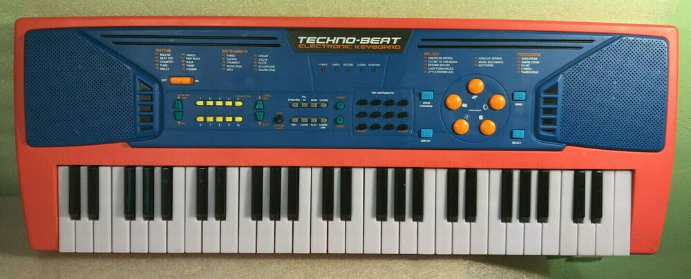 Manley 2005 Red Techno Beat Electronic Keyboard Concert Play Demo 54 Keys 29 L Manley Techno Keyboard Beats