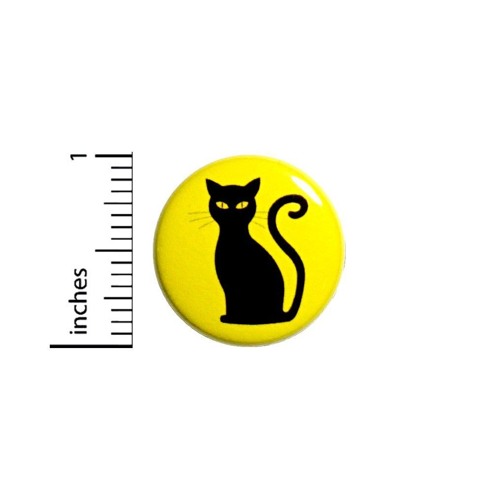 Amazon.com   Black Cat Button Halloween Spooky Cute Fun Party Favor Backpack  Pin 1 806f6f2ee78ce