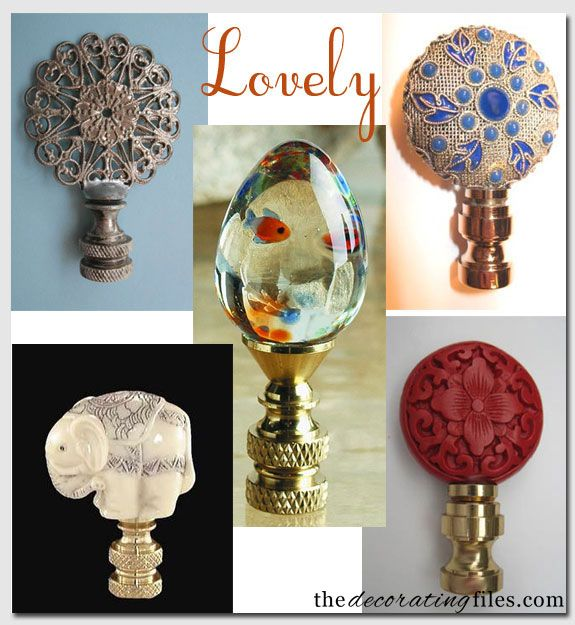 Finials For Lamps Unique These Lovely Lamp Finials Would Add Glamour To A Lamp From The