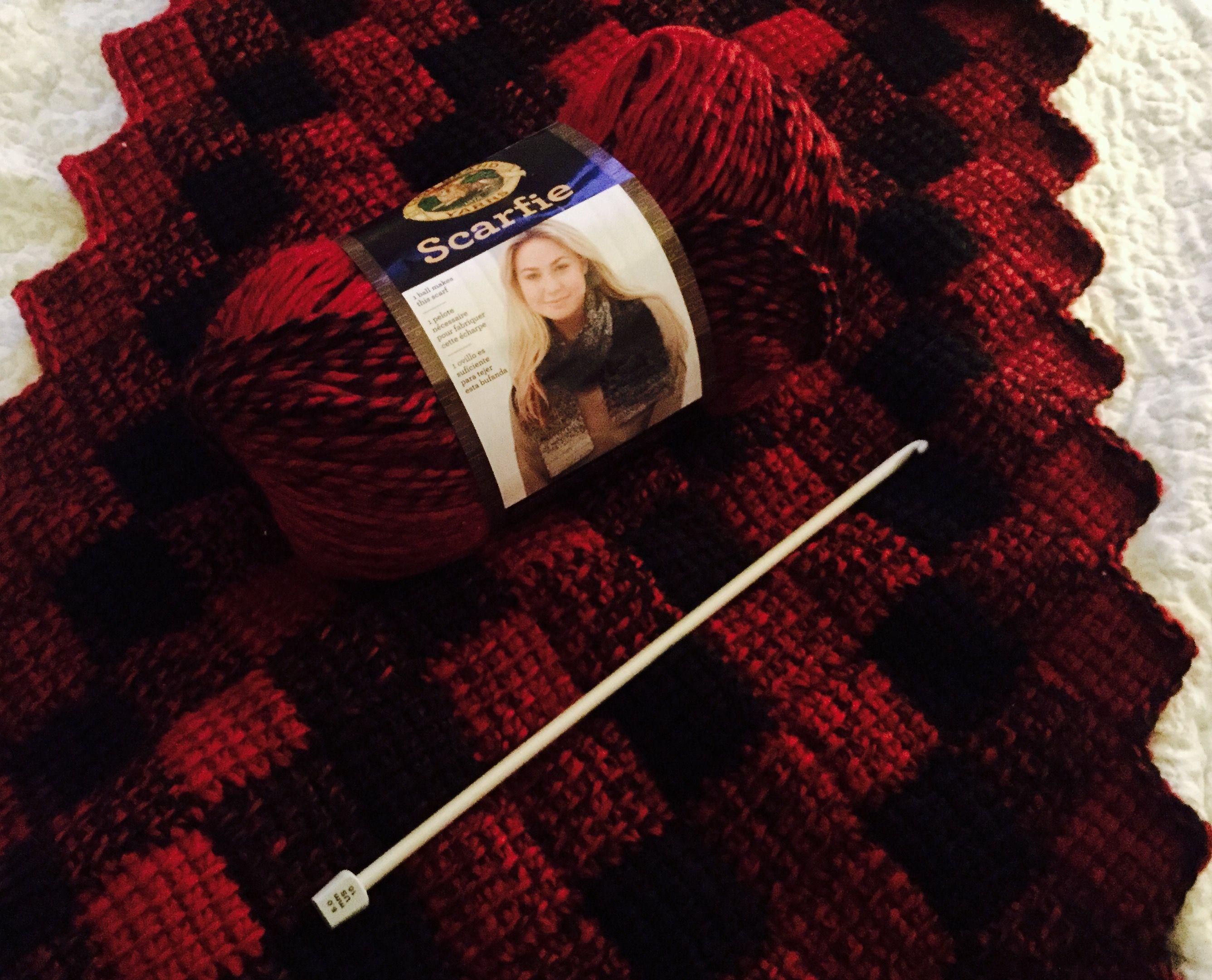 Entrelac Tunisian Crochet . Lion Brand Yarns \