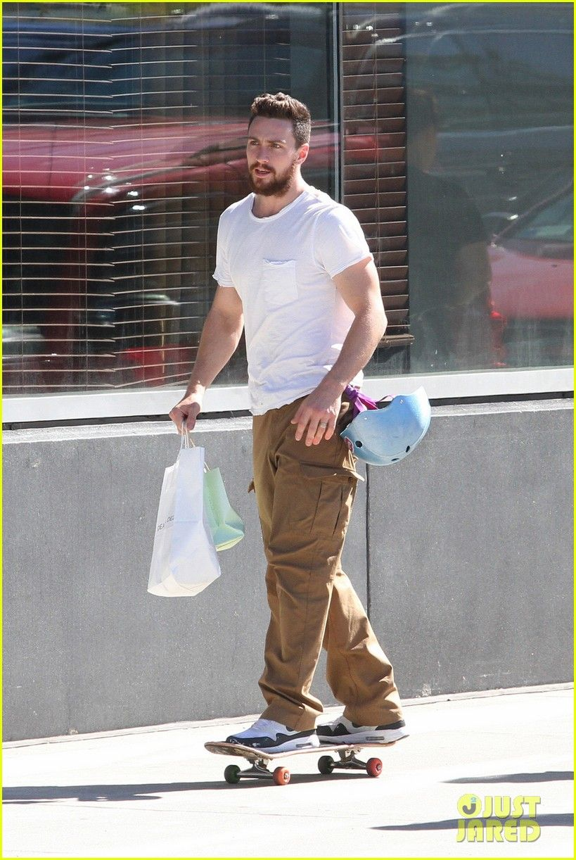 Aaron Taylor-Johnson & Wife Sam Spend Sunday with Their ...