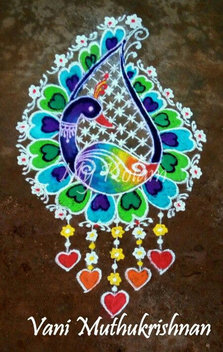 Pin by Vani Muthukrishnan on My kolam | Colorful rangoli designs ...