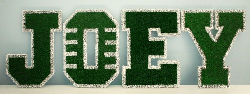 Football field childrens custom wall letters in 2020