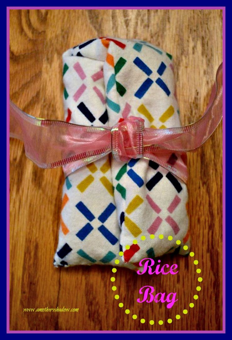 Easy diy nosew and sew rice microwave heating bags rice