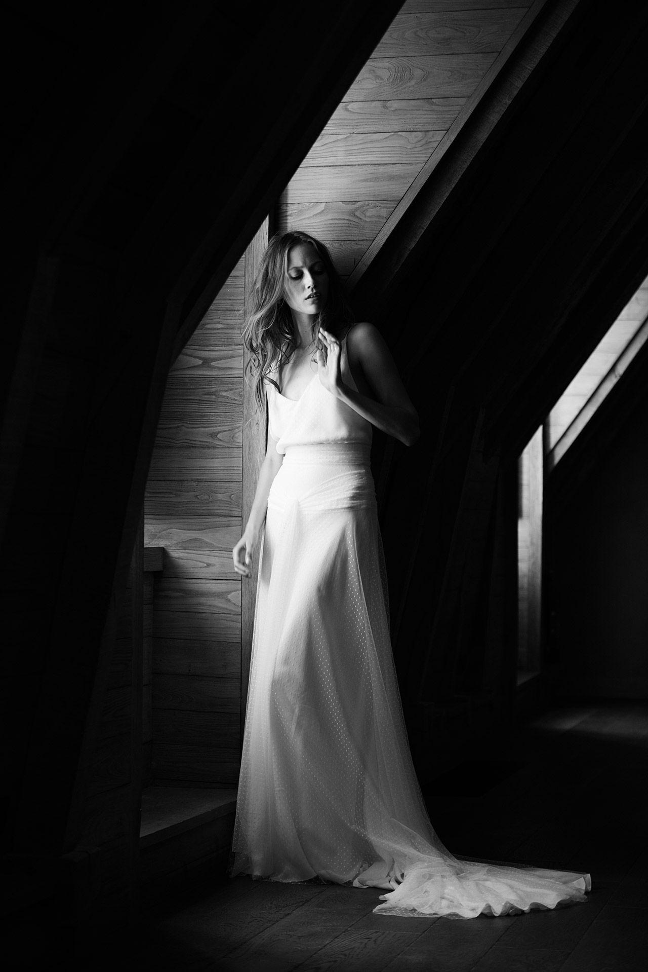 Delphine Manivet - Wedding dress designer Paris : Hyppolite Plumetis