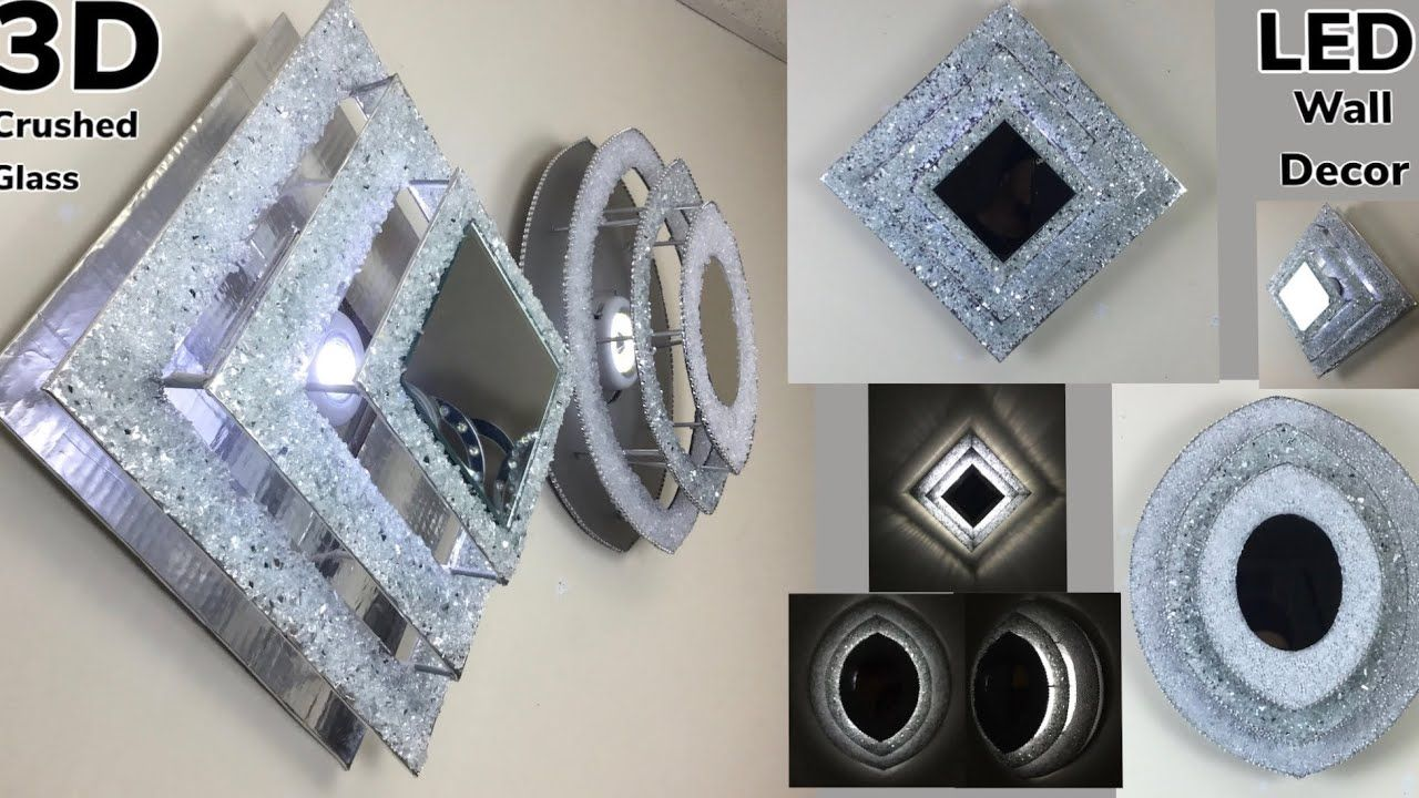 Dollar Tree Diy 3d Diamond Oval Shape Crushed Glass Led Lights Glam Wall Decors 2020 Youtub Glam Wall Decor Dollar Tree Diy Dollar Tree Diy Crafts