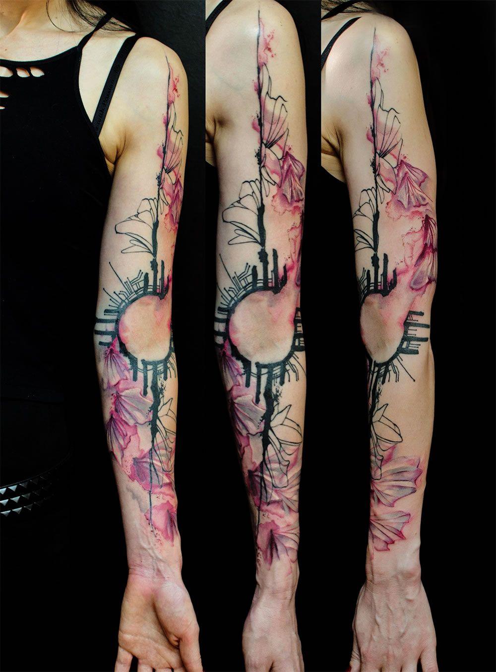 The 112 Best Watercolor Tattoos For Men Watercolour Tattoo Men
