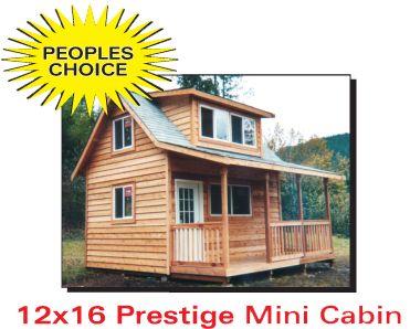12x16 prestige mini cabin i 39 d probably prefer a 16x24 for 16x24 garage kit