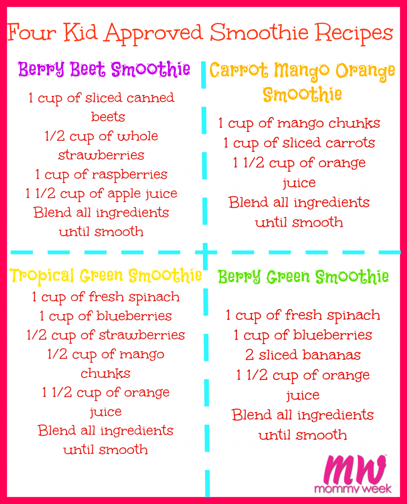 hight resolution of four kid approved smoothies made with the nutri ninja auto iq