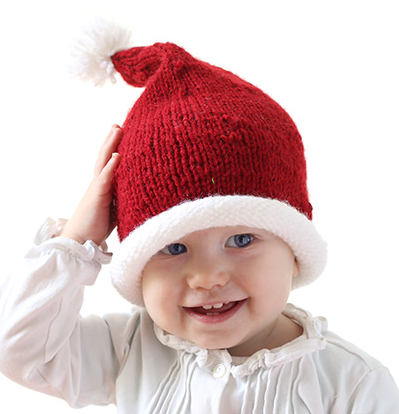 Stockinette Baby Santa Hat Pattern  fbdf3fc95d27