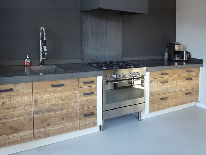 Inspiration Industriele Keuken : Esgrado industriële keuken houten keukens maatwerk