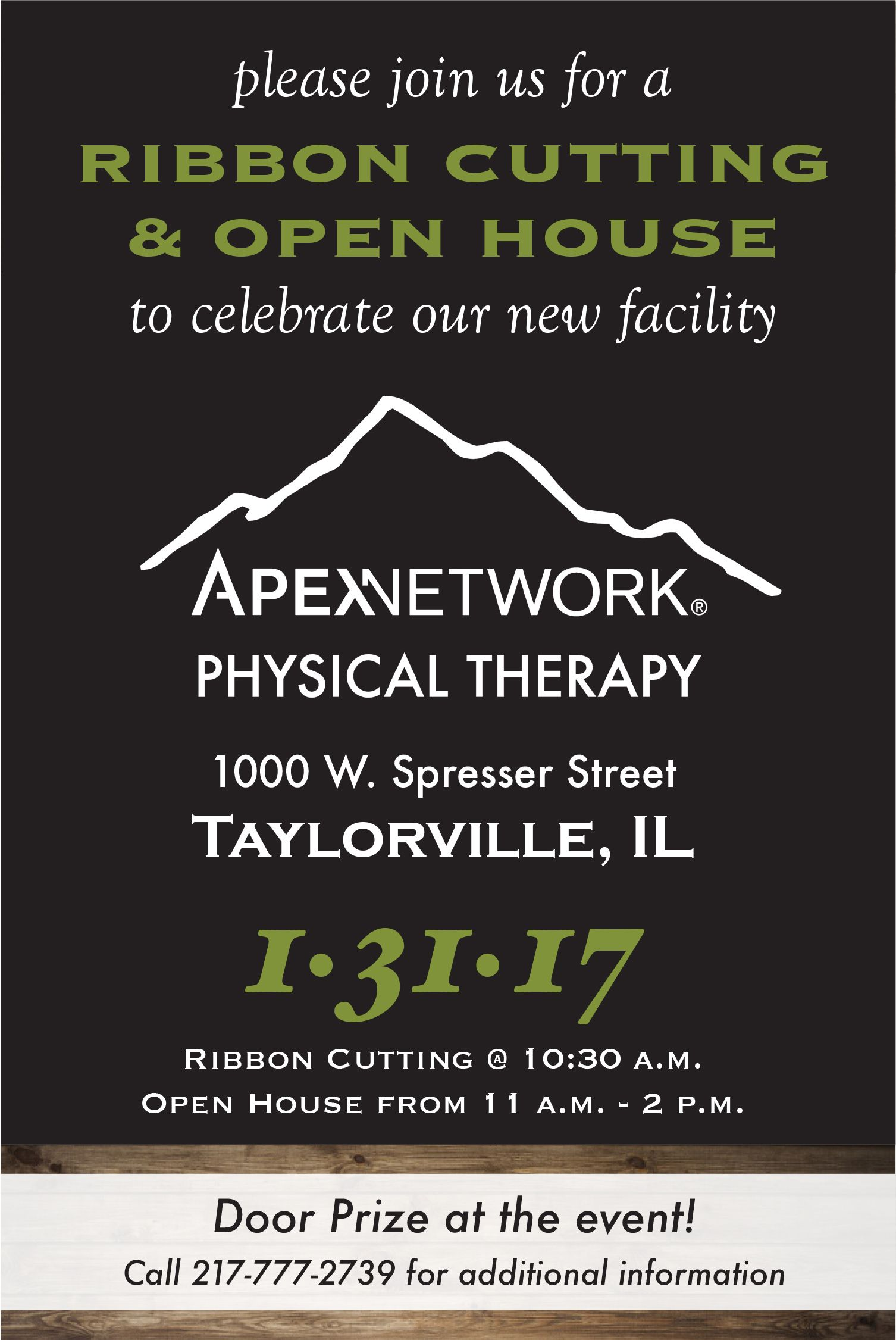 To celebrate their grand opening, ApexNetwork Physical Therapy in ...