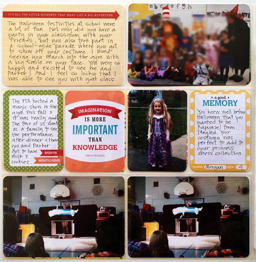 Reaves, party of four: Project Life Childhood Album : Morgan : Preschool Part 1 - Children's School Album