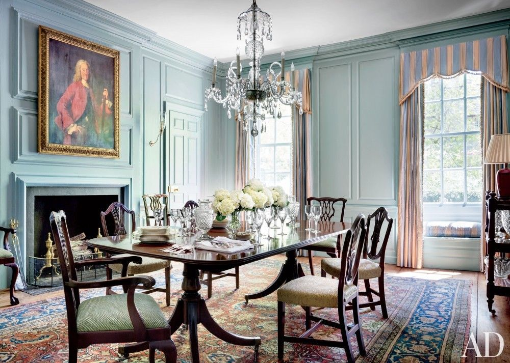 In the dining room of a historic Washington  D C  home  a circa 1880. In the dining room of a historic Washington  D C  home  a circa