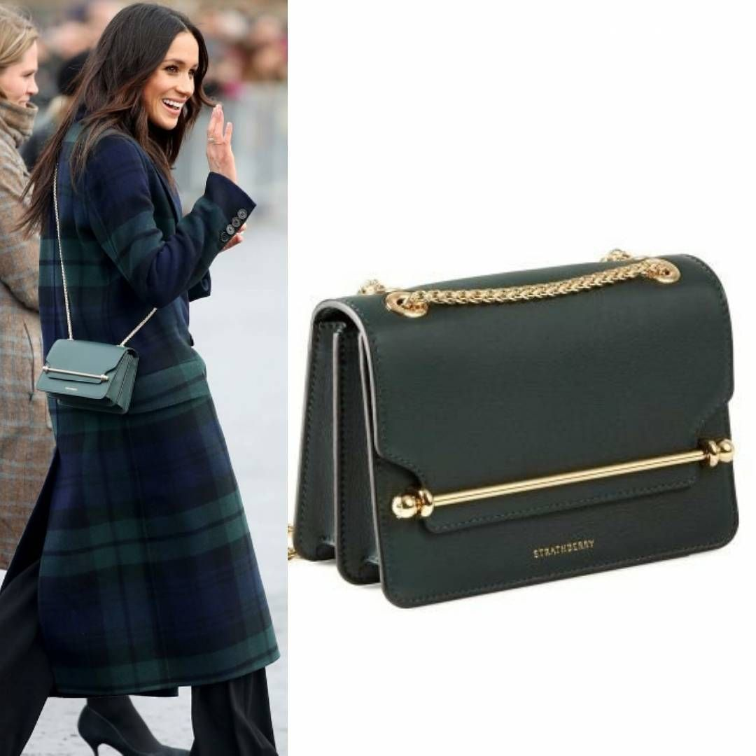 4f26e5f304a5 Meghan s bag is Strathberry East West Mini in Bottle Green. It s a classic  and…""