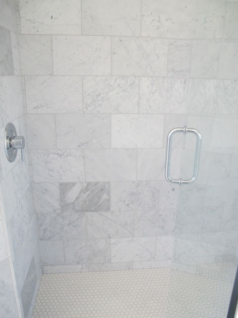 The Shower Is All Carrera Marble From Home Depot This My Go To Tile If I Need And Can T Afford Expensive Stuff